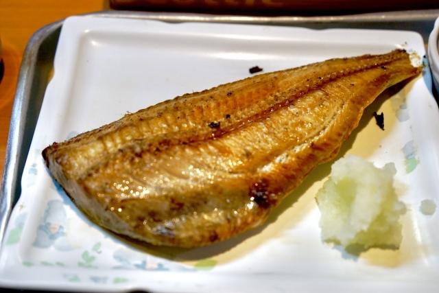 身のほぐれたお魚。至福の時。