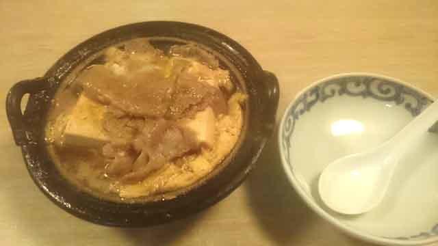 あっさりとした温まる肉豆腐