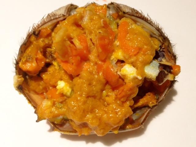 今が旬の食材「上海蟹の蒸し物(メス)」