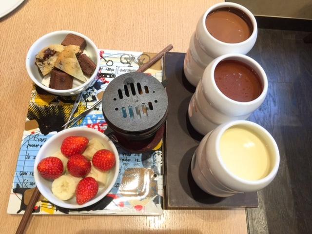 チョコレートフォンデュを楽しむ!「クラシック ヨーロピアン」