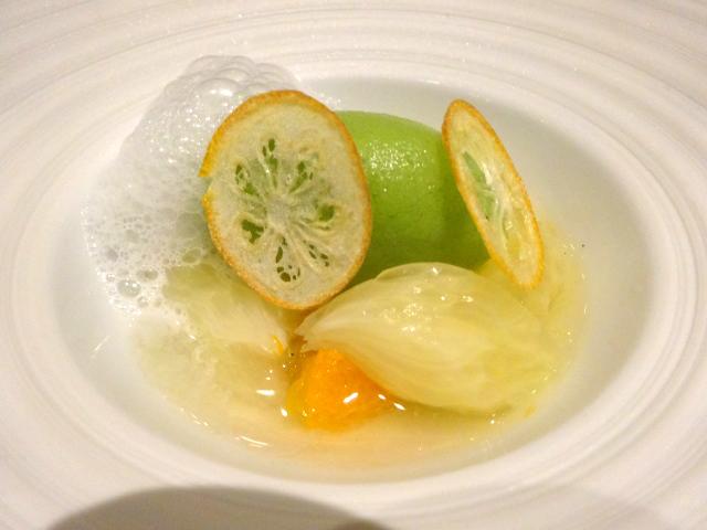デザートの一品目 柑橘6種