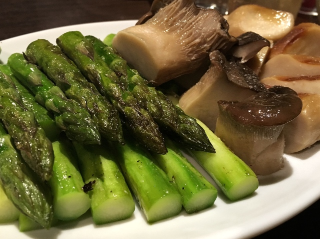 潤いのあるみずみずしい焼野菜!:肉山